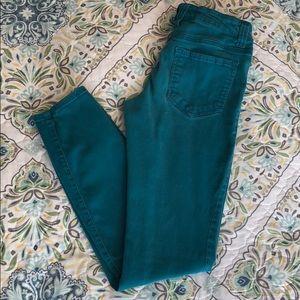 Deep Teal Skinny Jeans